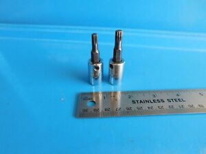 Used Mac Tools 3 8 In Dr Triple Square Sockets Lot Of 2 Part S Sc95 Sc89