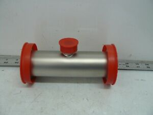 Stainless Steel Vacuum Fitting Tee Kf50 Nw50 To Kf16 Nw16 6 3 8 Inches Long