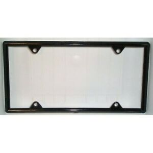 Black Vinyl License Plate Frame Kit 50 Pack Free Screw Caps With This Frame