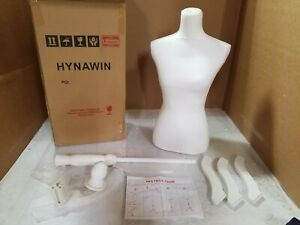 White Female Dress Form Mannequin Torso Body With White Adjustable Tripod Stand