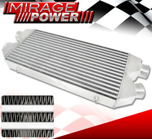 30 x11 x3 Jdm Custom Twin Core Dual Outlet Front Mount Intercooler Chevy