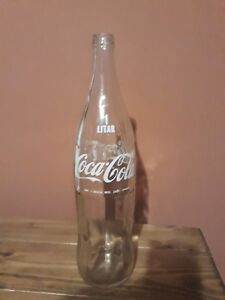 Coca-Cola DIET Coke 33.8 oz 1 Liter Glass Wide Bottles Vintage