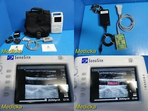 Sonosite 180 Portable Colored Ultrasound W L38 Probe Battery Adapter 21443