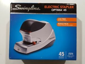 Swingline Optima 45 Electric Stapler 45 sheet Capacity Silver 48209 New