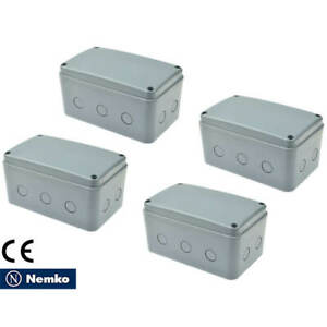 4pk Ip66 Waterproof Electrical Project Junction Box 181 111 100mm Abs Large Size