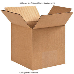 3 To 28 Shipping Boxes Cube Square Flat Many Sizes Available