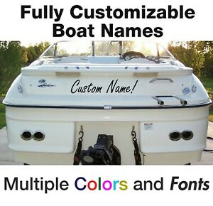 Custom Boat Name Decal Vinyl Decal Lettering For Boats Jet Ski Kayak Canoe