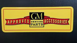 Vintage Gm Approved Accessories Quality Vinyl Decal New Durable