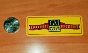 Vintage Gm Approved Accessories Quality Vinyl Decal New Durable Waterproof 3