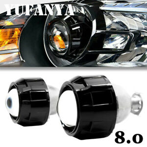 2 2 5 Bi Xenon Hid Projector Lens Retrofit Headlight Angel Eyes H1 H4 Diy Kit