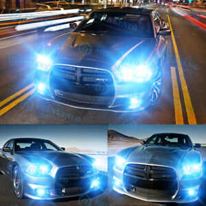 For Dodge Charger 2011 2014 8000k Led Headlights Hi lo Fog Lights 6x Bulbs