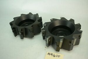 Lot Of 2x 6 Milling Head Cutter Face Mill One With Carbide Milling Tt2431