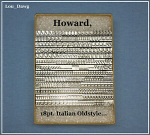 Howard Machine Personalizer 18pt Italian Oldstyle Hot Foil Stamping Machine
