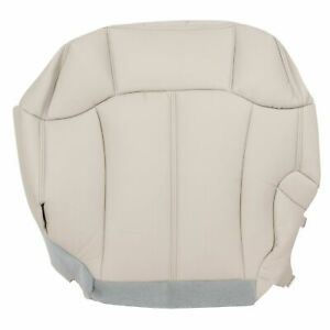 Chevy Tahoe Suburban Driver Bottom Seat Cover 99 02 Light Tan Synthetic Leather