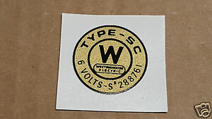 Westinghouse Electric Coil Distributor 1910 1930s Water Slide Decal
