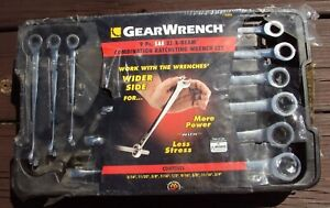 Gearwrench 85898 9 Pc Sae Xl X Beam Combination Ratcheting Wrench Set