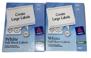 Avery Self Adhesive Full Sheet Shipping Labels Copier 5353 185 Labels 8 5 x11