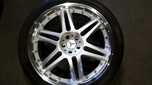 Set Of 4 Brabus Replica 22 New Wheels With Used Tires Mbz Suv
