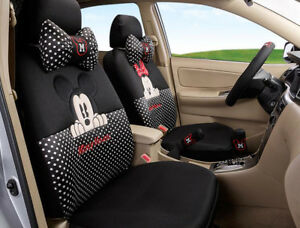 18pcs Women Love Carton Mickey Mouse Car Seat Cover Four Seasons Seat Covers 08m