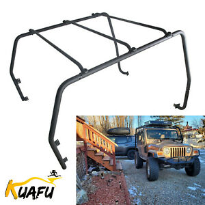 Powder Coated Roof Rack For 97 06 Jeep Wrangler Tj Rubicon Textured Black 76713