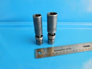 Used snap On 5 8 13 16 In Swivel Spark Plug Sockets Lot Of 2 3 8 Drive