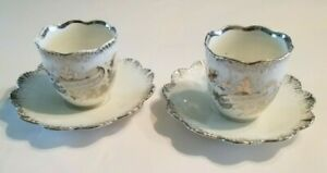 Vintage German Tea Cups And Saucers Translates To The Silver Bride