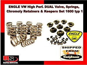 Engle Vw High Perf Dual Valve Springs Chromoly Retainers Keepers Set 1600 Typ 1