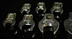 Vintage Snap On 3 8 Drive Crowfoot Socket Wrench Set Sae Open End Set