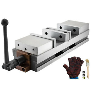 6 Lockdown Vise Cnc Vise Double Station For Milling Machine 2 Movable Jaws