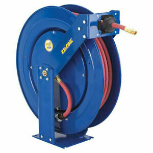 Spring Rewind Reel For Air water oil No Hose 3 4 I d 50 Capacity 250 Psi