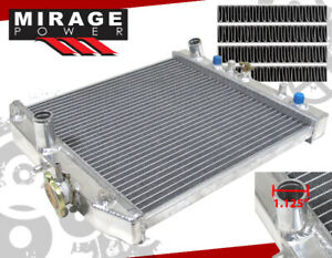 Brand New For 92 00 Del Sol Civic Dx Ex 1 5 4cyl Auto A T Jdm Aluminum Radiator