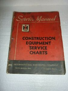 Vtg International Vintage Construction Equipment Service Charts Manual M 2