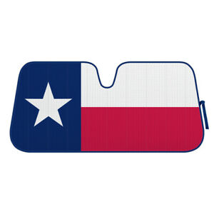 Texas Flag Auto Front Windshield Car Sun Shade Uv Sun Heat Protection