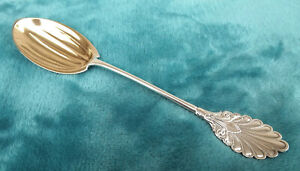 Grecian By Gorham 8 3 4 Coin Silver Serving Spoon Mono F Nice