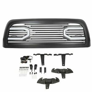 For 10 18 Dodge Ram 2500 3500 Big Horn Front Bumper Grille Grill Shell Lights