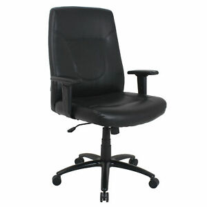 Big And Tall Leather Executive Chair With High Back