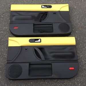 Volkswagen Beetle Door Panels Yellow Black Cover Cards 1998 2010 Vw Turbo