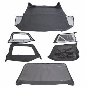 For 1997 2006 Jeep Wrangler Replacement Soft Top Upper Skins Black New