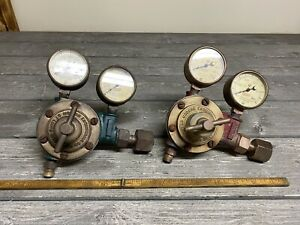 Vintage Mid Century meco Modern Engineering Co Oxygen And Acetylene Gauges