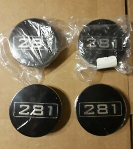 1999 2004 Saleen Style Ford Mustang 281 Black Center Caps 2 5 Free Shipping