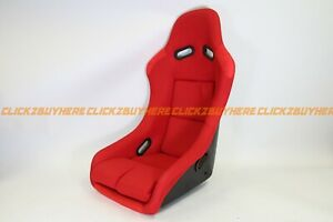Bride Vios Style Red Plain Cloth Single Fixed Back Racing Seat No Logo