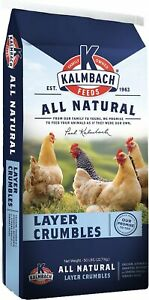 Chicken Feed All Natural 16 Protein Layer Crumbles Bulk 50lb Bag