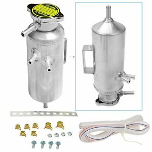 Universal Radiator Coolant Aluminum Catch Tank Bottle Overflow Reservoir Can