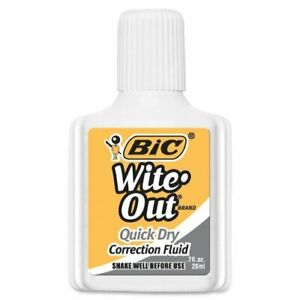 Bic Wite out Quick Dry Correction Fluid 20 Ml 1 pack White