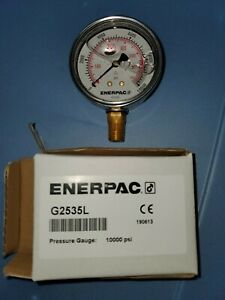 Enerpac Hydraulic Pressure Gauge 10 000 Psi Or 700 Bar With 1 4 Npt G2535l