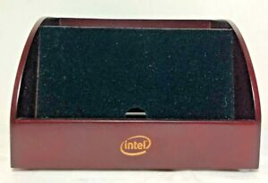 Vtg Intel Marketing Piece Wood Organizer For Electronics Phones Remotes