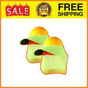 2 Pieces Hard Hat Neck Sun Shade With Visor Sun Protection Hard Hat Neck