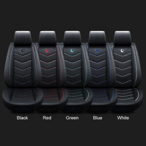 Universal Auto Car Standard Pu Leather 5 seat Seat Covers Cushion Front rear Kit