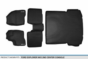 Maxliner 1st 2nd Cargo Floor Mats Set For 2011 14 Explorer W O 2nd Row Console
