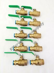 10 3 4 Propress X 3 4 Female Brass Ball Valve Lead Free Press Ball Valves